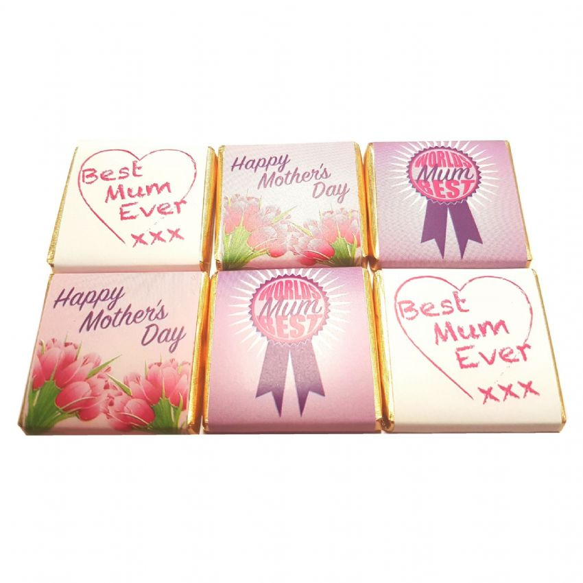 Mother's Day Neapolitans - Milk Chocolate Squares Whitakers Chocolates 5g